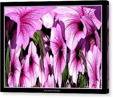 Purple Petunias Abstract Canvas Print by Rose Santuci-Sofranko