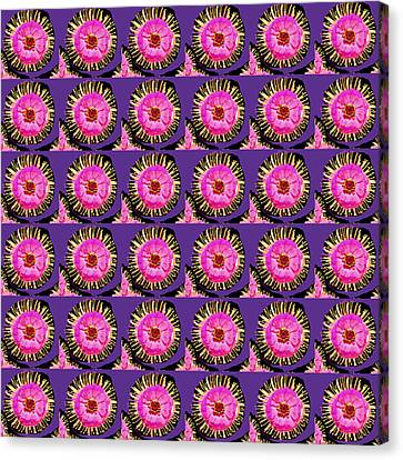 Purple Pink Flower Pattern Decoration Background Designs  And Color Tones N Color Shades Available F Canvas Print by Navin Joshi