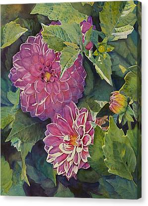 Purple Pinwheels Canvas Print