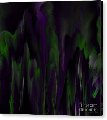 Purple Plumage Canvas Print by Patricia Kay
