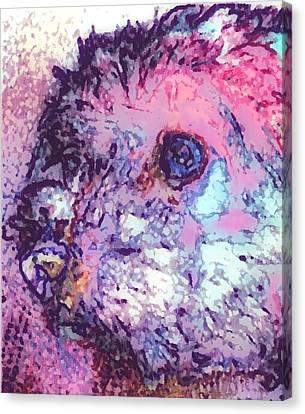 Purple Pooch Canvas Print by Lady Ex