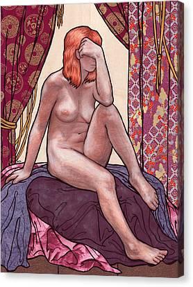 Purple Prose Canvas Print