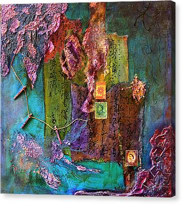 Purple Prose Canvas Print by Bellesouth Studio
