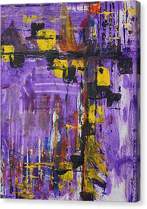 Purple Rain Canvas Print by Alexandra Jordankova