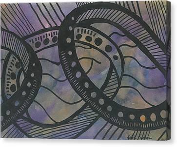 Purple Rings Canvas Print