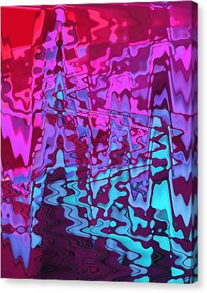 Purple Rivers Canvas Print by Steve K