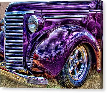 Canvas Print featuring the photograph Purple by Ron Roberts