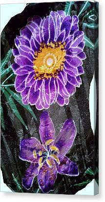 Canvas Print featuring the photograph Purple Silk by Fortunate Findings Shirley Dickerson