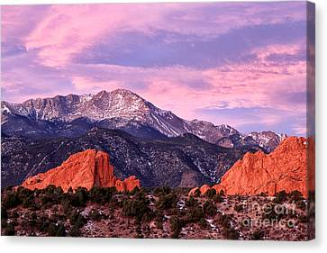 Purple Skies Over Pikes Peak Canvas Print