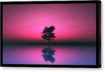 Purple Sky... Canvas Print