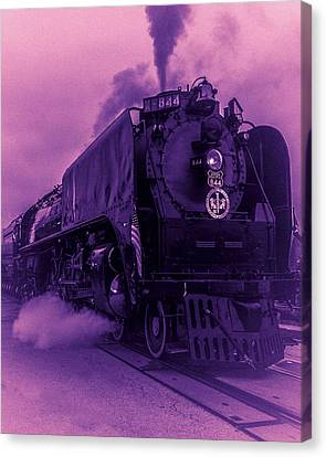 Canvas Print featuring the photograph Purple Smoke by Bartz Johnson