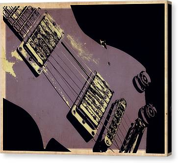Purple Strings Canvas Print by Tilly Williams
