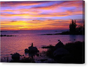 Purple Sunset 2 Canvas Print