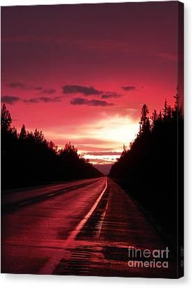 Purple Sunset Canvas Print by Jennifer Kimberly