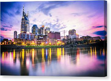 Nashville Tennessee Canvas Print - Purple Sunset by Lucas Foley