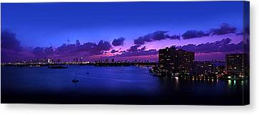 Purple Sunset Canvas Print by Michael Guirguis