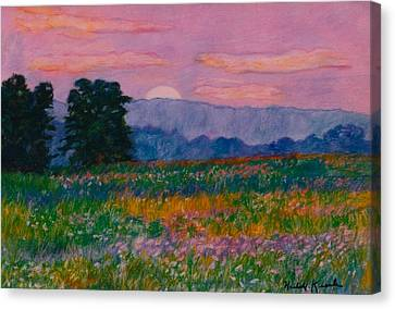 Purple Sunset On The Blue Ridge Canvas Print by Kendall Kessler