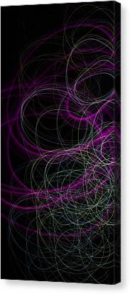Purple Swirls Canvas Print by Cherie Duran