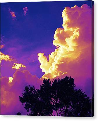 Purple Thunder Canvas Print by Deborah Fay