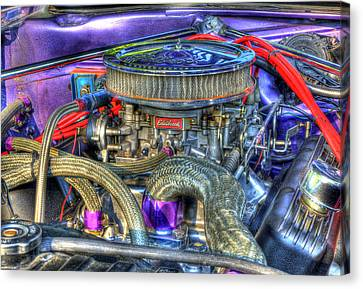 Purple Under The Hood Canvas Print by Thomas Young