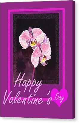 Be My Valentine Canvas Print - Purple Valentine by Irina Sztukowski
