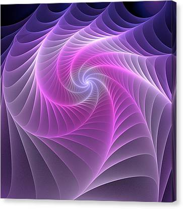 Purple Web Canvas Print by Anastasiya Malakhova
