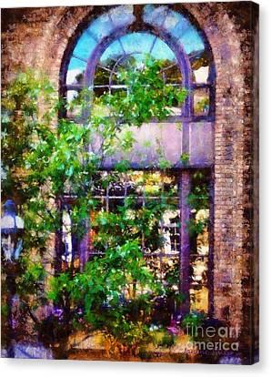 Purple Window Reflections Bethlehem Pa Canvas Print