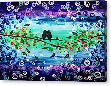 Purple World Canvas Print by Mariana Stauffer