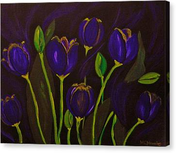 Canvas Print featuring the painting Purpleluscious by Celeste Manning