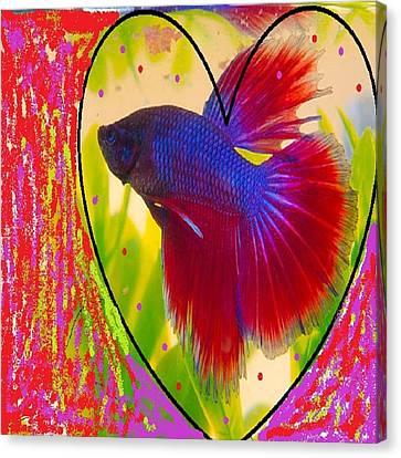 Purpred Fish Canvas Print