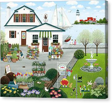 Purr-fect Blooms  Canvas Print by Wilfrido Limvalencia