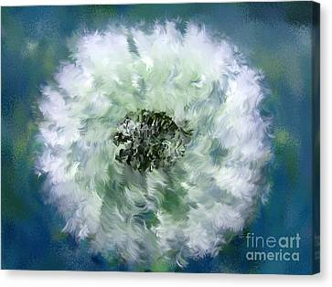 Pursuit Of Happiness Blue White Canvas Print by Holley Jacobs