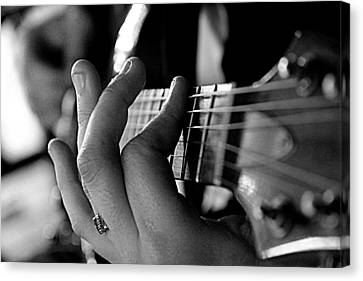 Canvas Print featuring the photograph Pushing Frets by Bartz Johnson