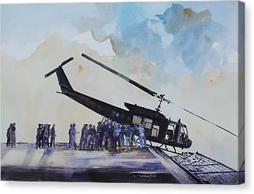 Pushover - South China Sea 1975 Canvas Print by P Anthony Visco