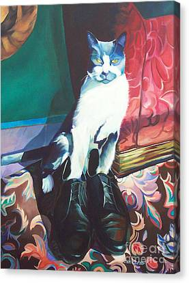 Puss In Shoes.  Canvas Print