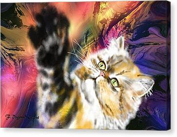 Pussy Canvas Print by Francoise Dugourd-Caput