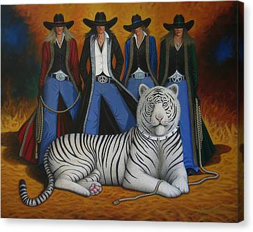 Contemporary Cowgirl Canvas Print - Pussycat Dolls by Lance Headlee