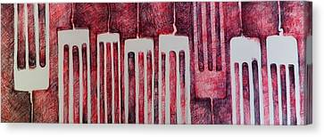 Put A Fork In It  Canvas Print by Isaac Alcantar