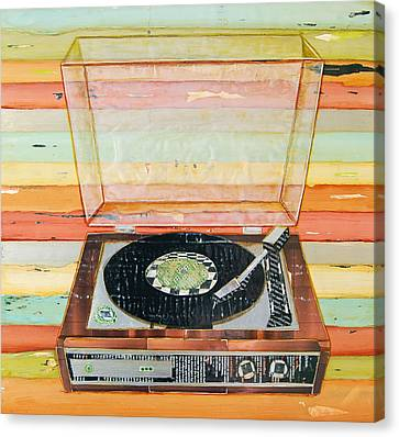 Put A Needle On The Record Canvas Print