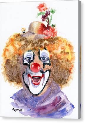 Put On A Happy Face Canvas Print by Marsha Elliott