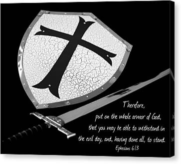 Put On The Armor Ephesians 6 Canvas Print by Denise Beverly