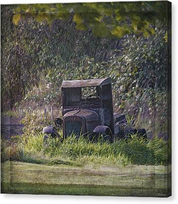 Antique Automobiles Canvas Print - Put Out To Pasture by Jordan Blackstone