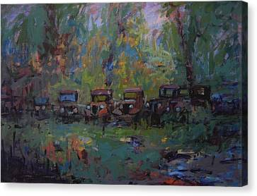 Put Out To Pasture Canvas Print by R W Goetting