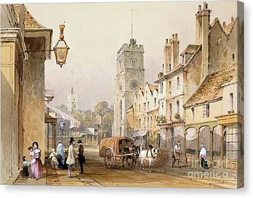 Putney High Street, 1837 Canvas Print