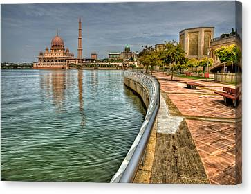 Putra Mosque Canvas Print by Adrian Evans