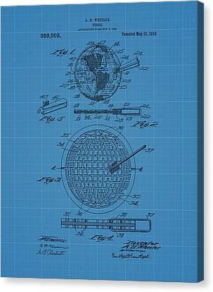 Puzzle Blueprint Patent Canvas Print