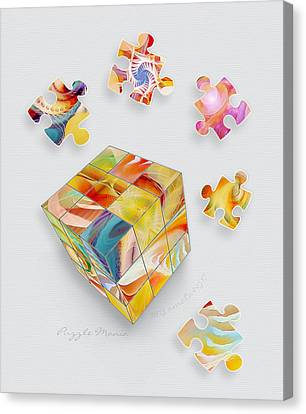 Puzzle Mania Canvas Print by Gayle Odsather