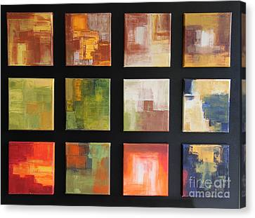 Puzzle Vi - Abstract Painting Canvas Print by Christiane Schulze Art And Photography