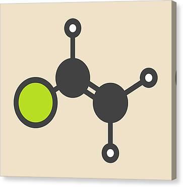 Pvc Building Block Molecule Canvas Print by Molekuul