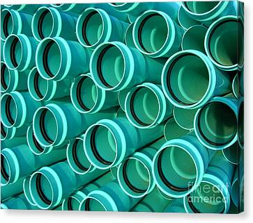 Pvc Pipes Canvas Print by Olivier Le Queinec